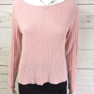 NWT! Eileen Fisher rib knit pale pink sweater